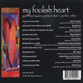 My Foolish Heart - Back Cover