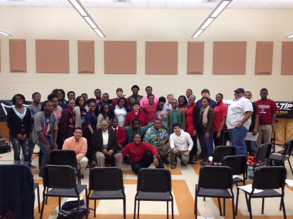 Double Take with students from Claflin University and Sidney B. Young (Former band director and uncle)
