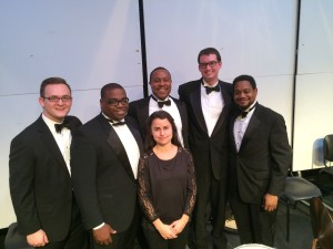 FSO Percussion Section (L-R Levi Cull, Daniel McCloud, Stephanie Wilson, Don Parker, Joseph Van Hassel, and Quintin Mallette